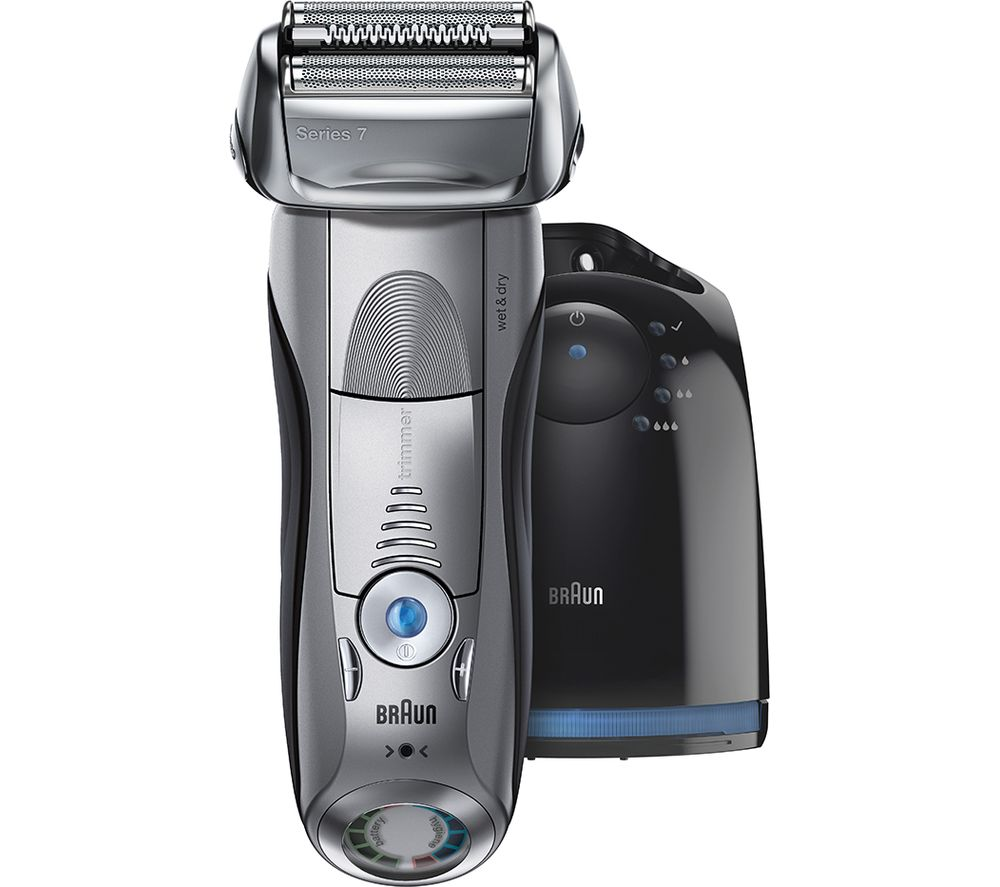 BRAUN Series 7 7898CC Wet and Dry Foil Shaver - Silver