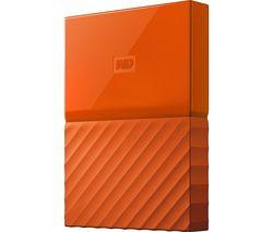 WD My Passport Portable Hard Drive - 2 TB, Orange