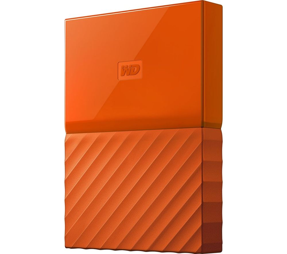 WD My Passport Portable Hard Drive - 2 TB, Orange
