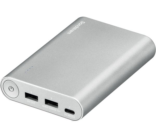 6c2408207 Buy SANDSTROM S13PBQC17 Portable Power Bank - Silver
