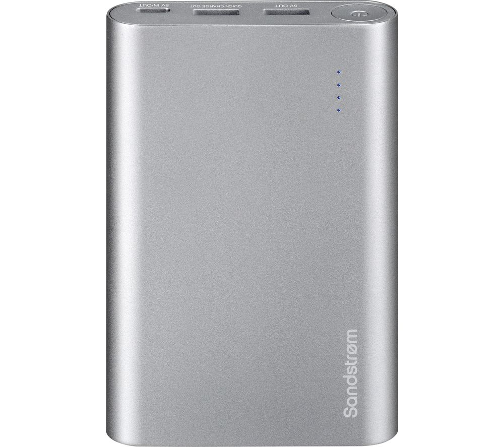 SANDSTROM S13PBQC17 Portable Power Bank - Silver