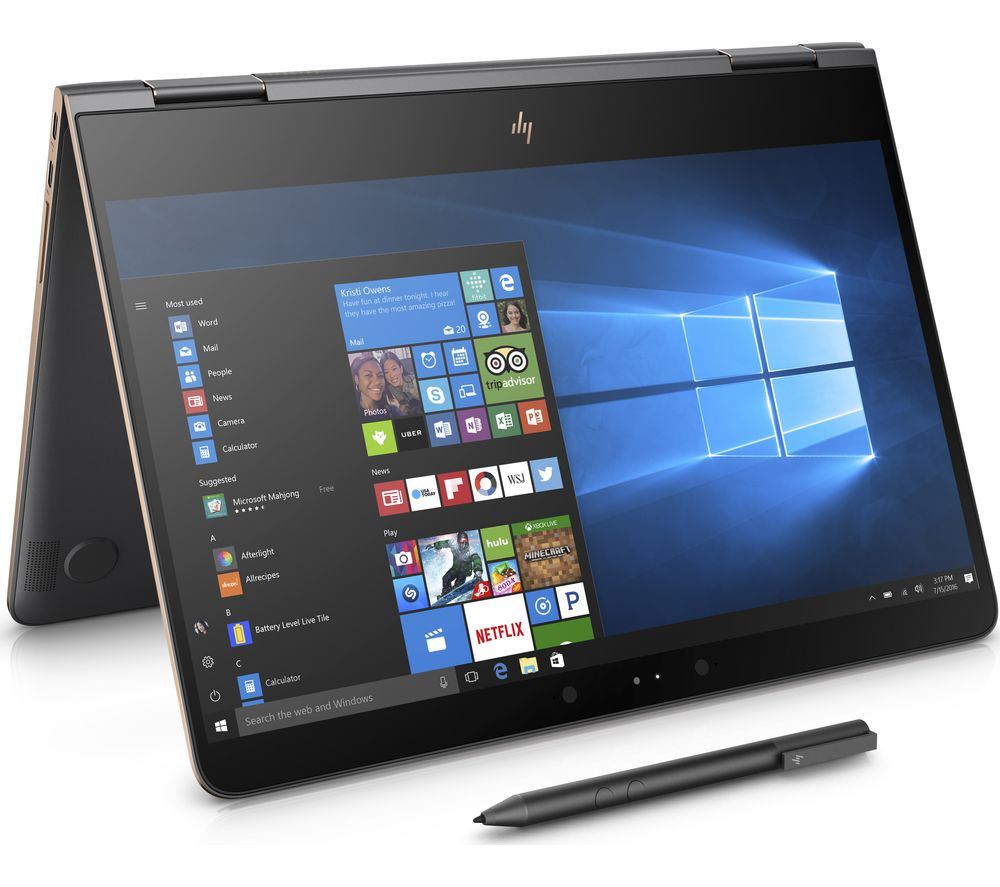 HP Spectre x360 13-ac052na 2 in 1 - Ash Silver + Office 365 Home - 1 year for 5 users + LiveSafe Premium - 1 user / unlimited devices for 1 year