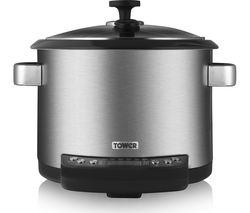 TOWER T16001 Digital Multicooker - Stainless Steel & Black
