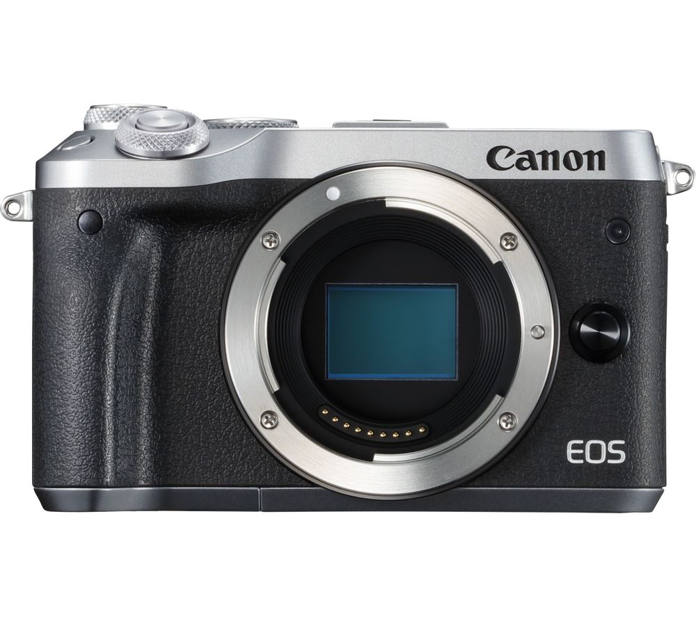 CANON EOS M6 Mirrorless Camera - Silver, Body Only