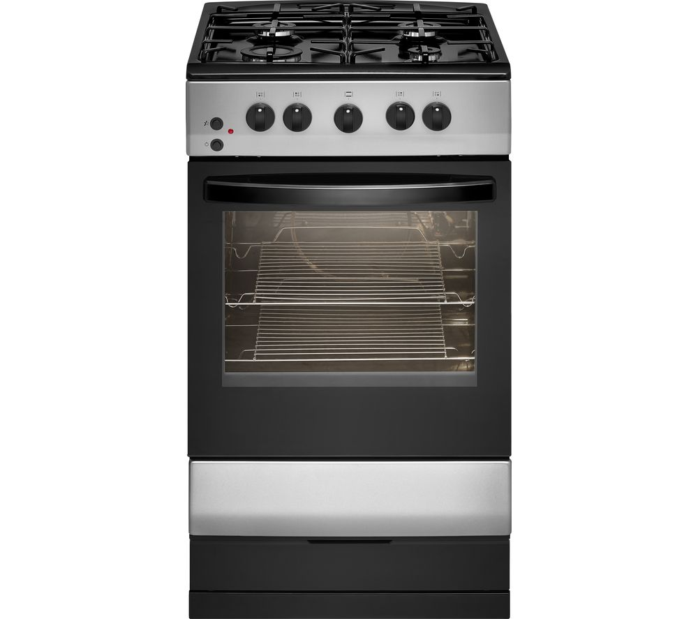 Buy essentials cfsgsv17 50 cm gas cooker silver black for Essential appliances for a new home
