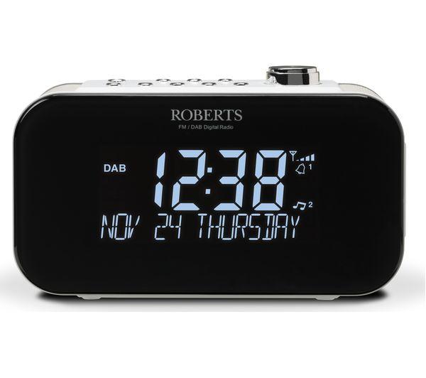 Image of ROBERTS ORTUS3 DAB+/FM Clock Radio - White