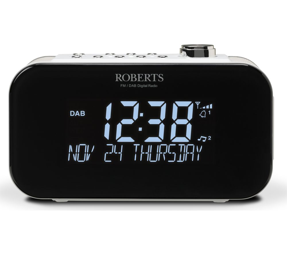 Image of ROBERTS ORTUS3 DAB+/FM Clock Radio - White, White