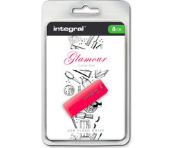 INTEGRAL Glamour USB 2.0 Memory Stick - 8 GB, Red