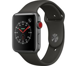 APPLE Watch Series 3 Cellular - Grey, 42 mm