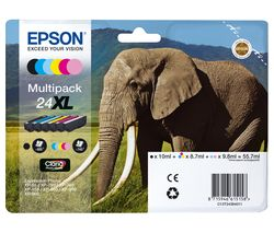 EPSON Elephant 24XL 5-colour Ink Cartridges - Multipack