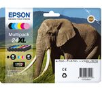 EPSON Elephant 24XL 5-colour Ink Cartridges - Multipack