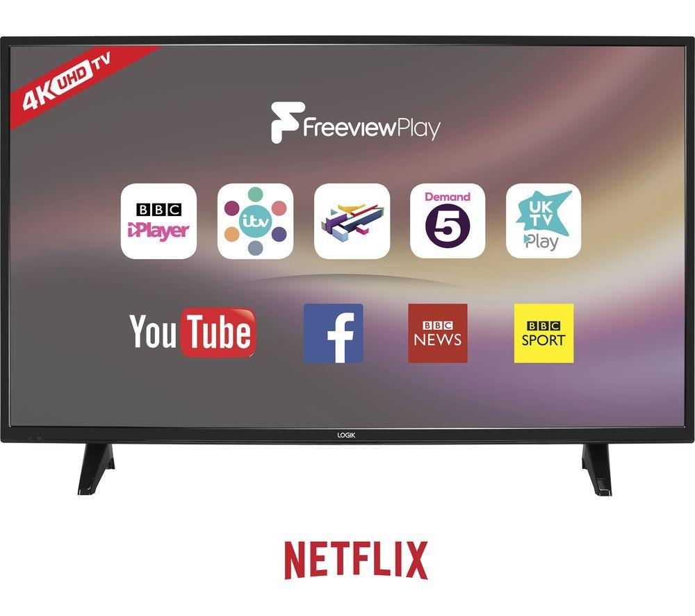 "LOGIK L43UE18 43"" LED Smart 4K Ultra HD HDR TV"