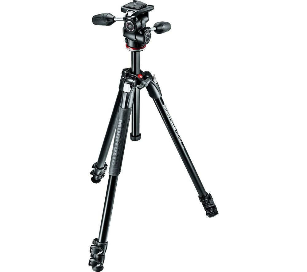 MANFROTTO 290 Xtra Kit 3 Way Head MK290XTA3-3W Tripod - Black