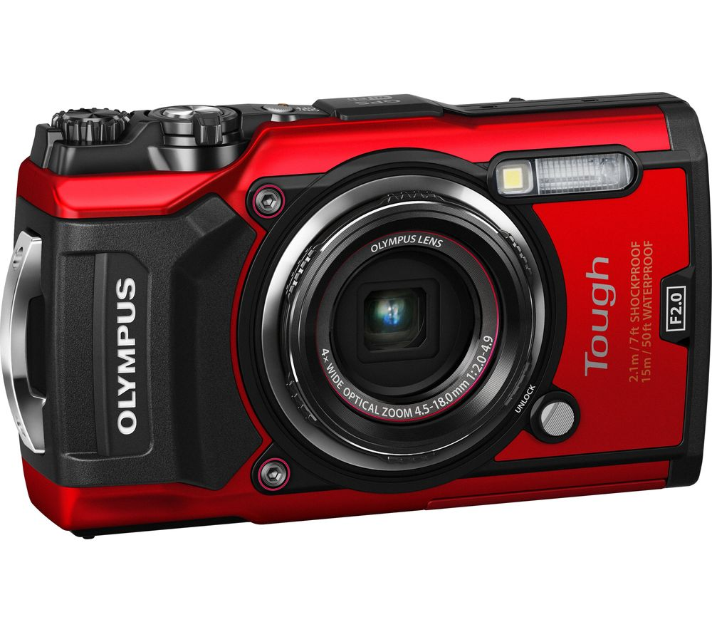 OLYMPUS TG-5 Tough Compact Camera - Red