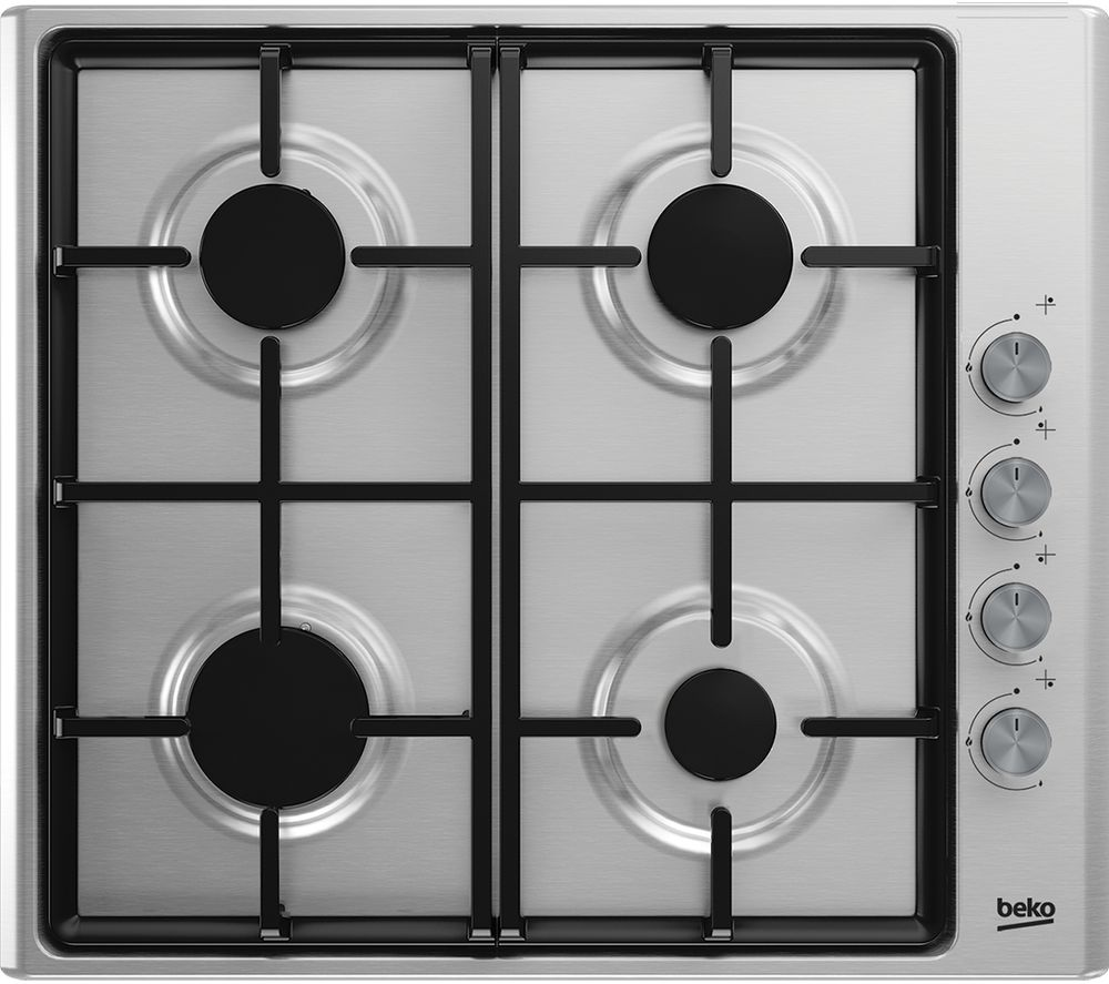 Image of BEKO HIZG64125SX Gas Hob - Stainless Steel, Stainless Steel