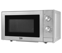 BEKO MOC20100S Compact Solo Microwave - Silver Best Price, Cheapest Prices