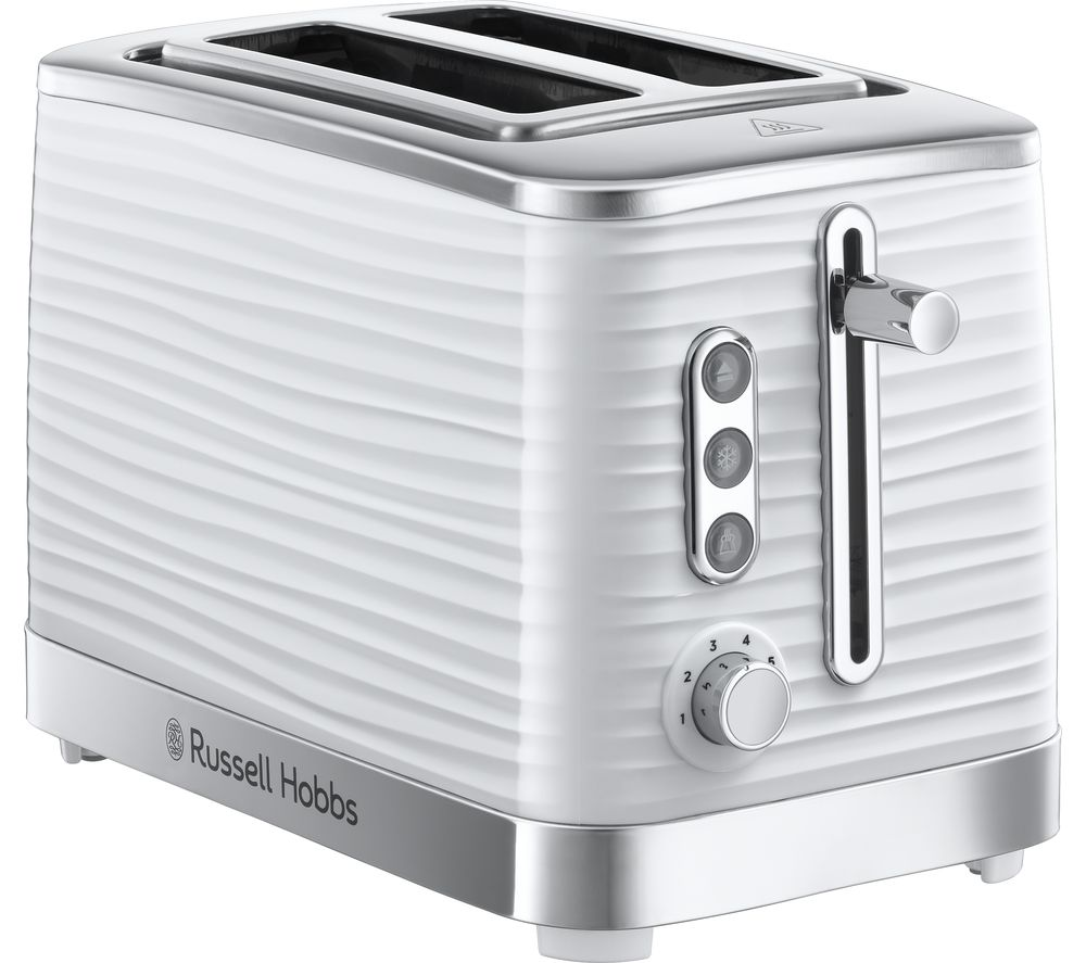 buy russell hobbs inspire 24370 2 slice toaster white free delivery currys