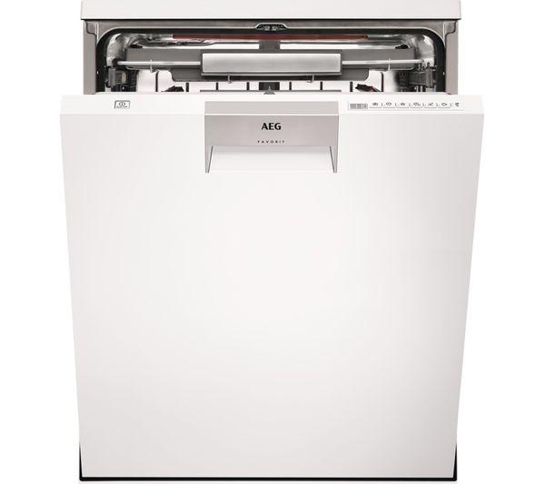 Image of AEG ComfortLift FFE63806PW Full-size Dishwasher - White