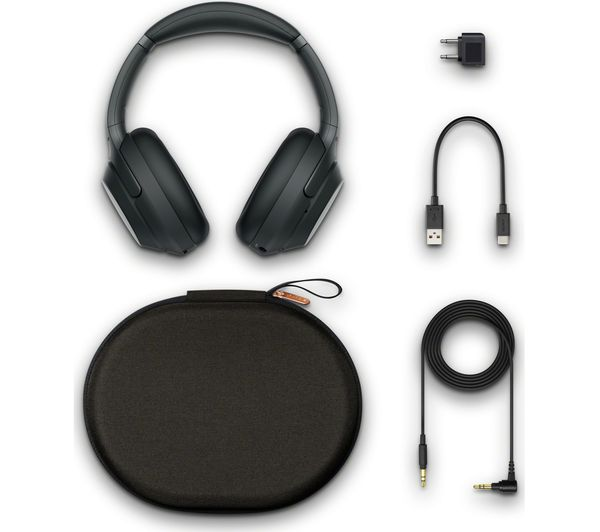 SONY WH-1000XM3 Wireless Bluetooth Noise-Cancelling Headphones - Black