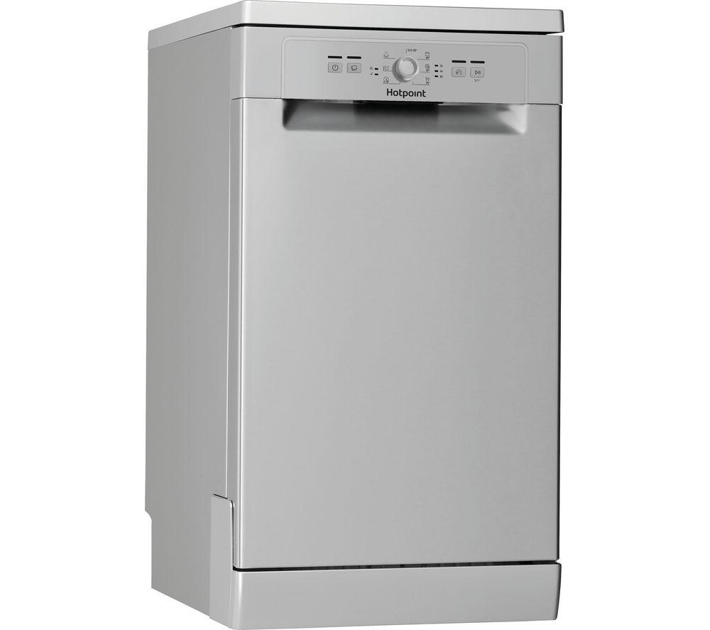 HOTPOINT HSFE 1B19 UK Slimline Dishwasher - Silver