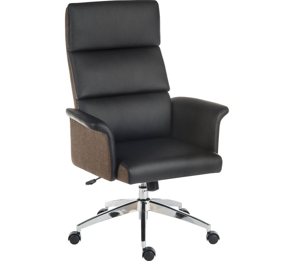 Elegance 6950BLK Leather-look Executive Chair - Black, Black