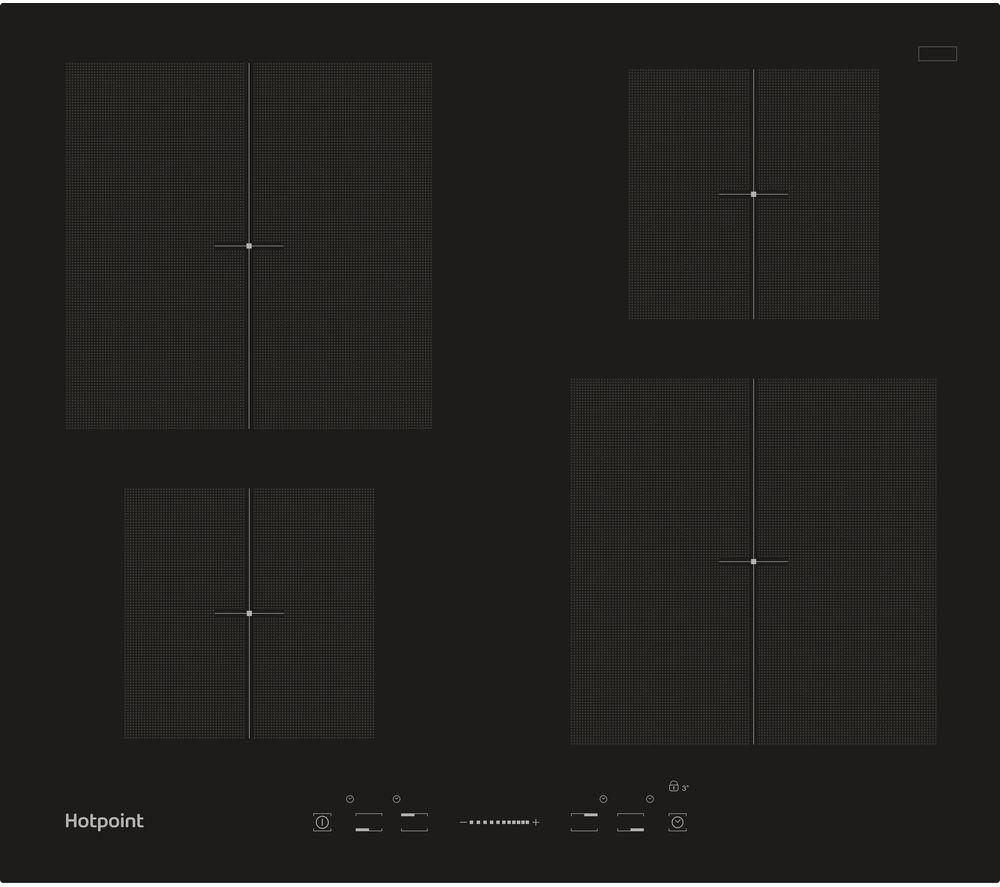 HOTPOINT CIS 640 B Electric Induction Hob - Black