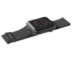 Image of LAUT Apple Watch 42 / 44 mm Steel Loop Strap - Black, Small