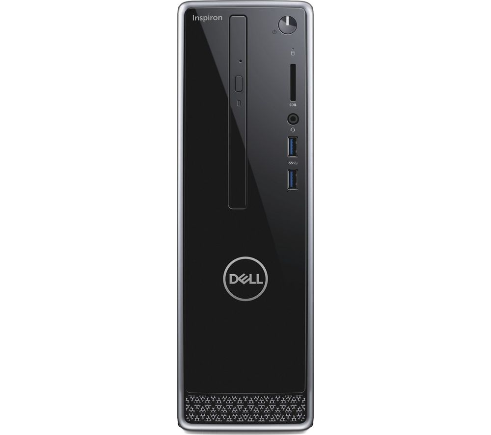 Image of DELL Inspiron 3470 Intelu0026regCore™ i3 Desktop PC - 1 TB HDD, Black & Silver, Black