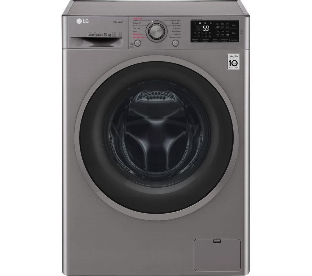 LG F4J610SS NFC 10 kg 1400 Spin Washing Machine - Graphite