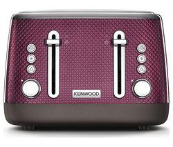 KENWOOD Mesmerine TFM810PU 4-Slice Toaster - Rich Plum