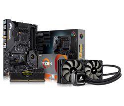 PC SPECIALIST AMD Ryzen 9 Processor, TUF X570 PLUS Motherboard, 16 GB RAM & Corsair Cooler Components Bundle