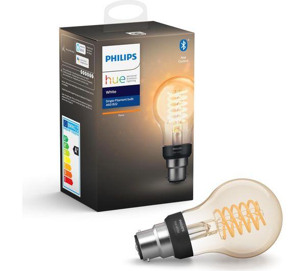 Image of PHILIPS HUE Filament Bluetooth LED Bulb - A60, B22