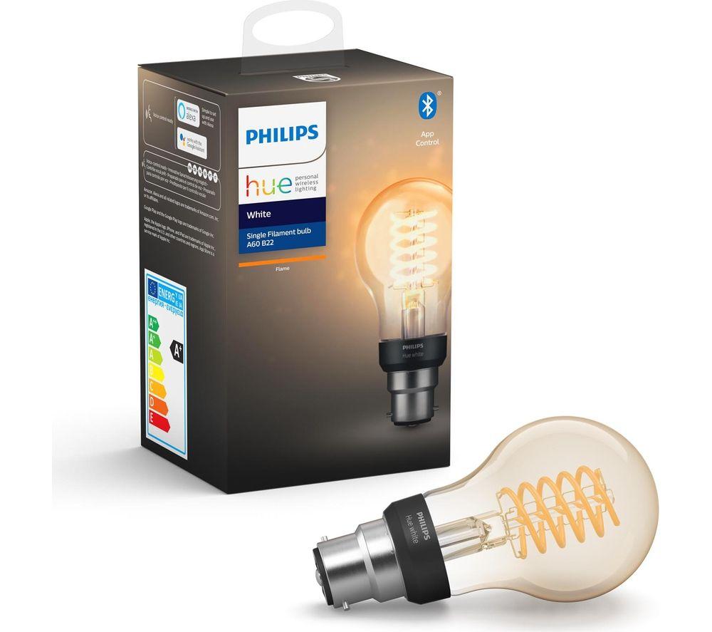 PHILIPS HUE Filament Bluetooth LED Bulb - A60, B22