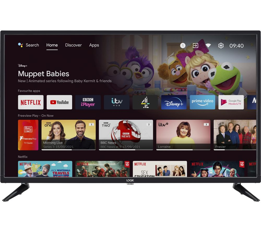 "LOGIK L32AHE19 Android TV 32"" Smart HD Ready LED TV with Google Assistant"