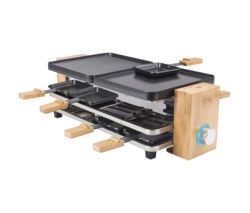 Raclette Pure 8 Grill - Black & Bamboo