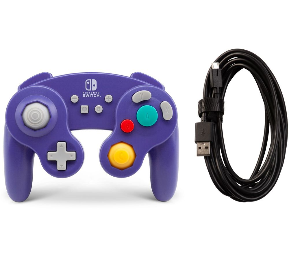 Image of POWERA Nintendo Switch GameCube Controller - Purple, Purple