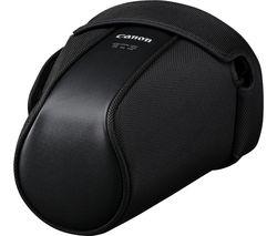 EH20-L Genuine Leather DSLR Camera Case - Black