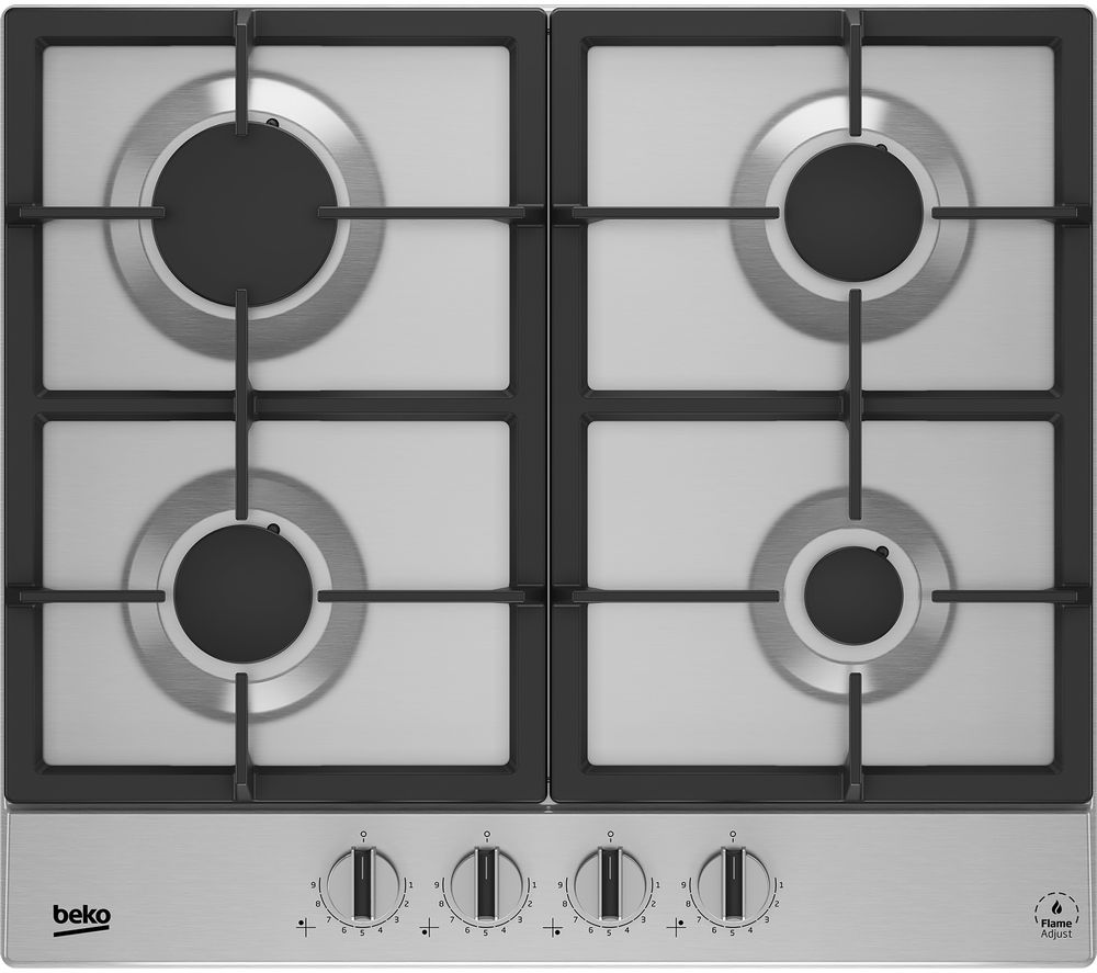 Image of BEKO HIAG64325SX Gas Hob - Stainless Steel, Stainless Steel