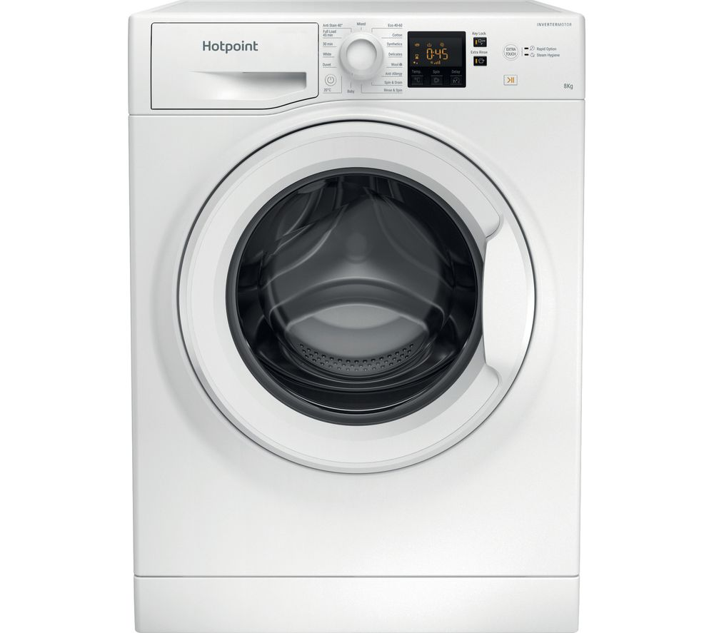 HOTPOINT Core NSWR 843C WK UK 8 kg 1400 Spin Washing Machine - White, White