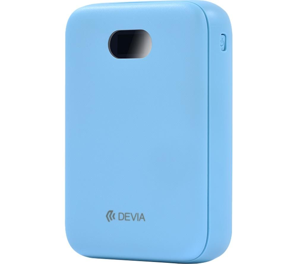 DEVIA DEV-DIGITAL-POW10-BLU Portable Power Bank - Blue