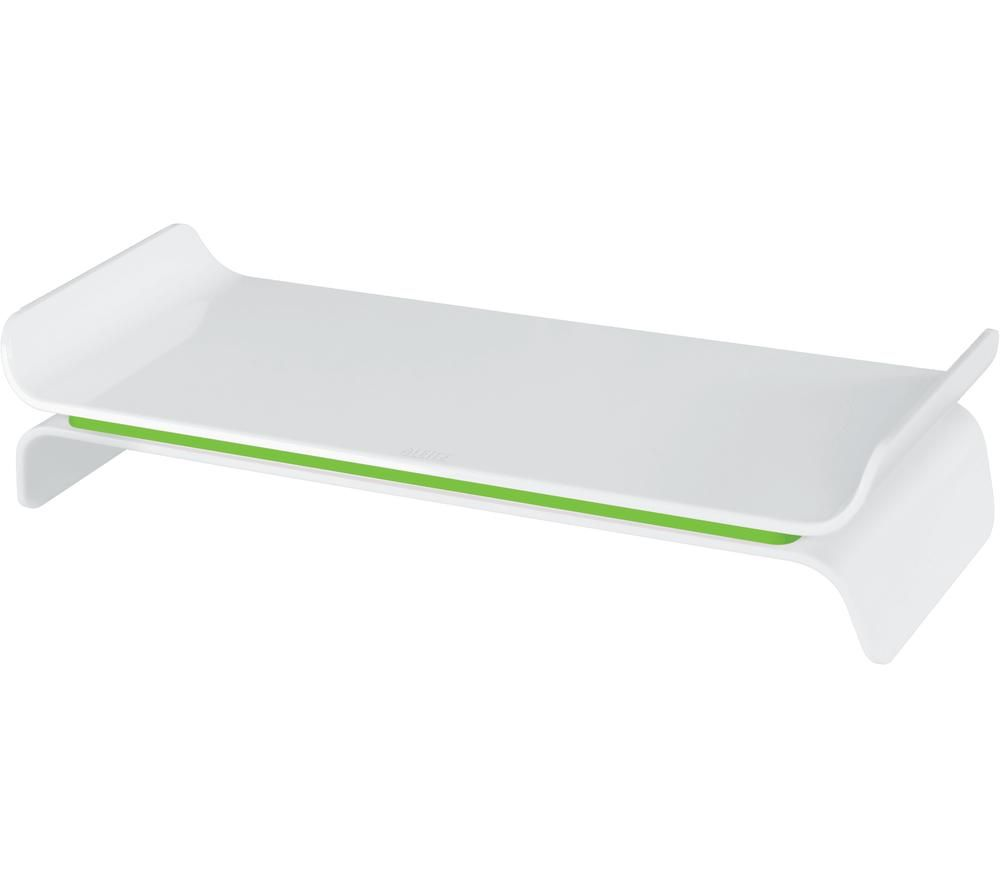Image of LEITZ Ergo WOW Monitor Stand - Green & White, Green
