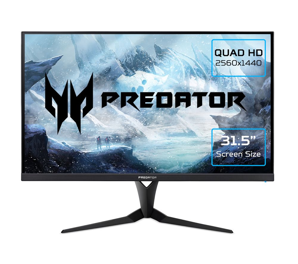 "Image of ACER Predator XB323UGP Quad HD 32"" IPS Gaming Monitor - Black, Black"