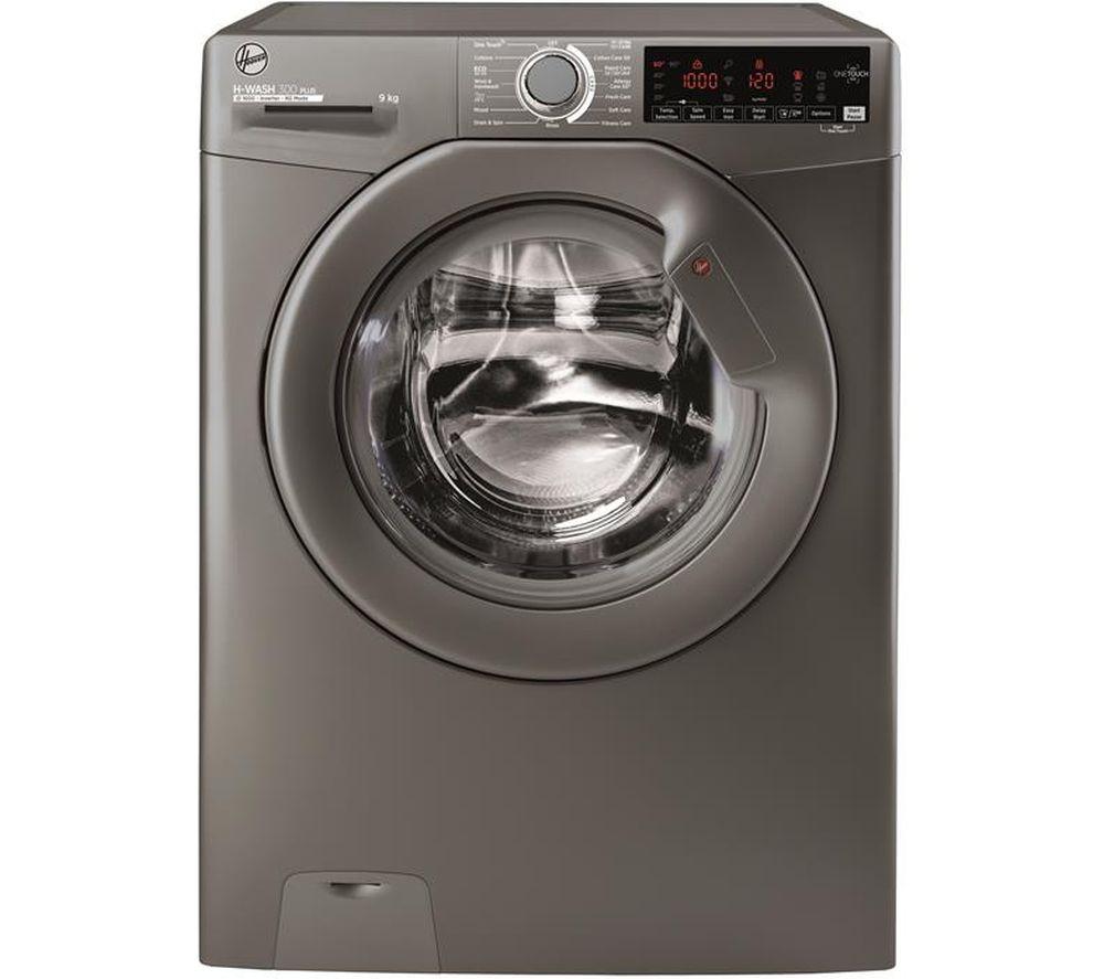 HOOVER H-Wash 300 H3W 69TMGGE NFC 9 kg 1600 Spin Washing Machine - Graphite, Graphite