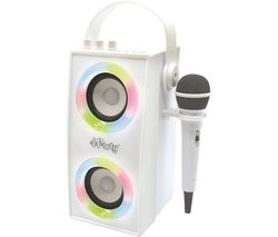 iParty BTP180Z Bluetooth Karaoke System - White