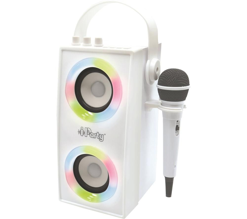 LEXIBOOK iParty BTP180Z Bluetooth Karaoke System - White