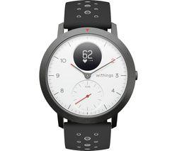 Steel HR Sport Smartwatch - White, Grey & Black, Silicone Strap