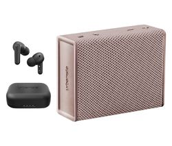URBANISTA London Wireless Bluetooth Noise-Cancelling Earphones & Sydney Portable Speaker Bundle - Black & Rose Gold