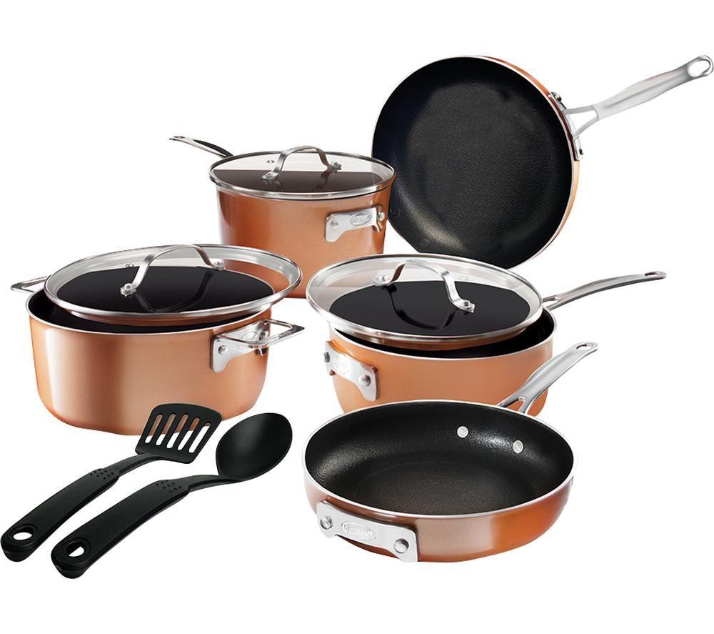 GOTHAM STEEL Stackmaster 2874 10-piece Non-stick Pan Set - Copper