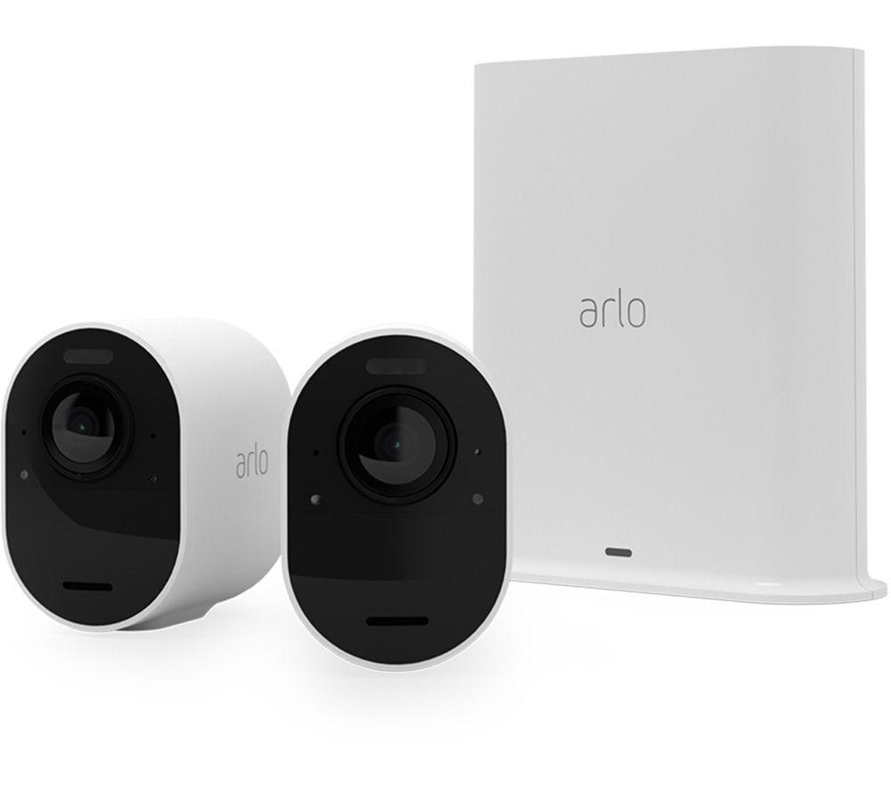 ARLO Ultra 2 4K Ultra HD WiFi Security Camera System - 2 Cameras, White