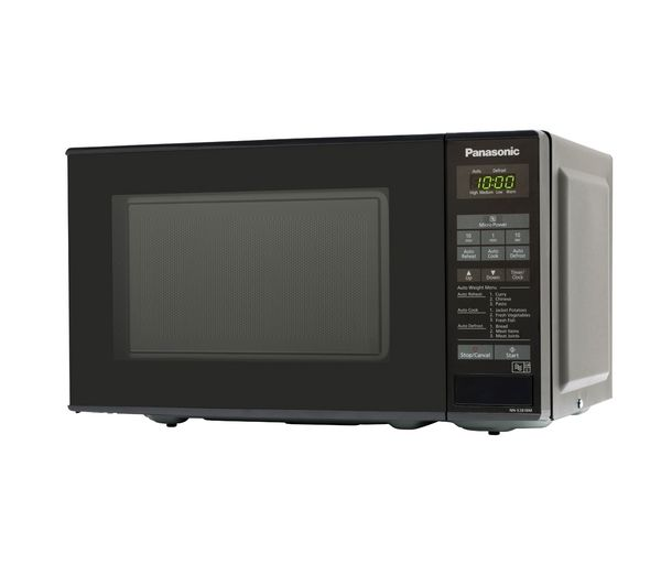 PANASONIC NN-E281BMBPQ Solo Microwave - Black + M-Cuisine 4-Piece Stackable Microwave Cooking Set - Stone & Orange